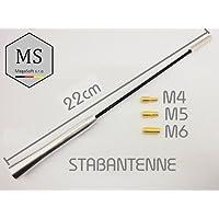 1,20m Universal Fahrzeugantenne Autoantenne Stabantenne INION/® Dachantenne 40cm mit Antennenfuss und Kabel
