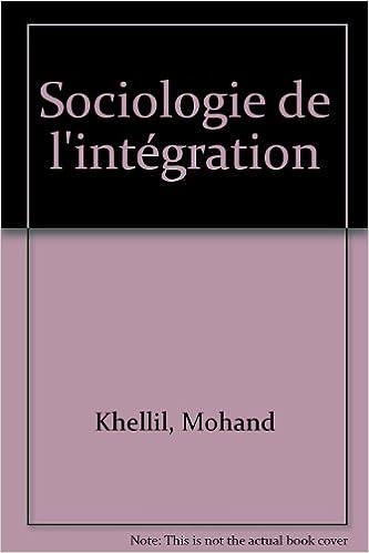 Sociologie de l'intégration pdf
