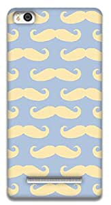 The Racoon Grip printed designer hard back mobile phone case cover for Xiaomi Mi4i. (Mustaches)