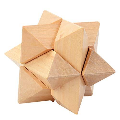 CRRE Puzzle Holzspielzeug Kong Ming Lu Ban Sperre Entsperren Sie die Ringserie Intellektuelle BausteineU (D)
