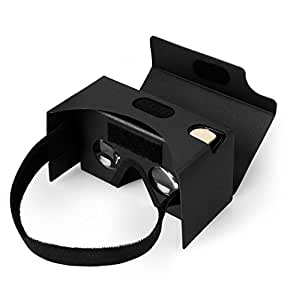 SPLAKS Google Cardboard[Updated Generation], Clearer and more Comfortable 3D Glasses Virtual Reality VR DIY Kit with Nose Pad and Head Strap for Android and IOS Device