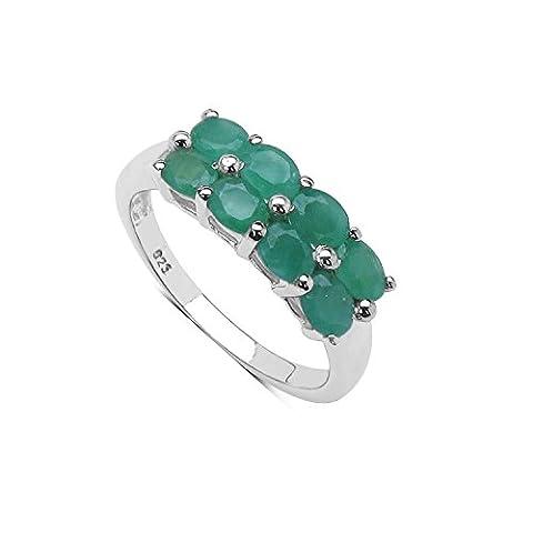 Silvancé - Women's Ring - 925 Sterling Silver - Genuine Emerald - R883E_SSR_17