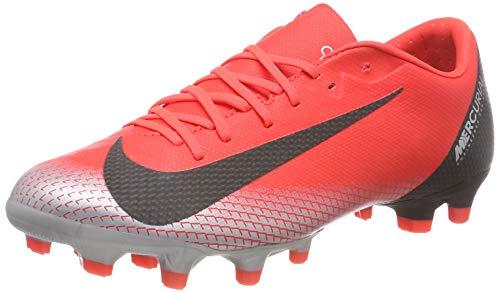Nike Unisex-Erwachsene Vapor 12 Academy Cr7 Fg/mg Fußballschuhe, Rot (BRT Crimson/Black/Chrome/Dk Grey 600), 44 EU -