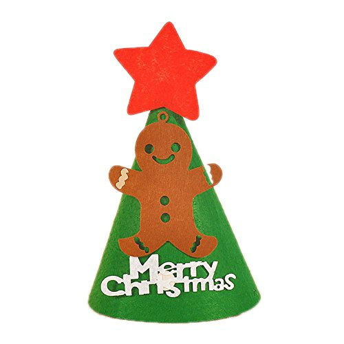 Cosanter Weihnachtsmütze Nikolausmütze Santa Claus Non-Woven Bär-Muster Weihnachten Hut