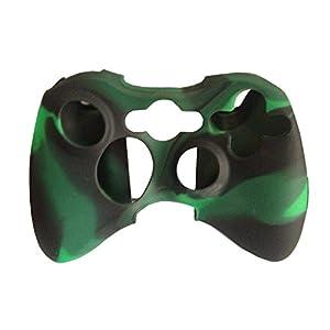 OSTENT Camouflage weichen Silikon Skin Case Cover Tasche kompatibel für Microsoft Xbox 360 Controller – Farbe dunkelgrün