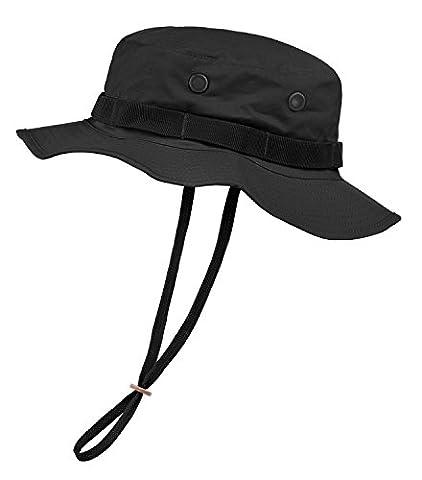 Noorsk US GI Boonie Chapeau de camouflage, Noir