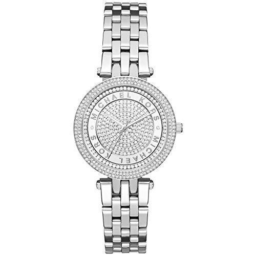 Michael Kors Damen Analog Quarz Uhr mit Edelstahl Armband MK3476 (Michael Kors Swarovski Uhr)