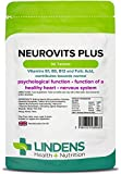 Lindens Neurovits Plus Tablets | 90 Pack | Contains Vitamin B1, B6, B12 & Folic Acid contributes towards normal psychological function, healthy heart & nervous system