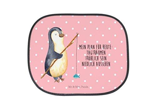 Preisvergleich Produktbild Mr. & Mrs. Panda Auto Sonnenschutz Pinguin Angeler - 100% handmade in Norddeutschland - Planer, Kinder, Tagträume, Geschenk, Pinguin, Geschenk, Tagesplan, PKW, Urlaub, Angeln, Familie, Kunstfaser