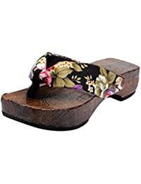 3e16d2cf56a Chanclas de Verano para Mujeres K-Youth Sandalias para Mujer Moda Sandalias  de Madera Interior