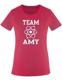 Comedy Shirts Big Bang Theory – Team Amy – Uni – Femme Femmes T-SHIRT  TAILLE XS à XXL diverse… caa976991305