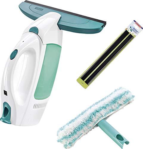 Leifheit Fenstersauger mit Einwascher und Ersatz-Gummilippe Dry & Clean 51162 Weiß, Grün