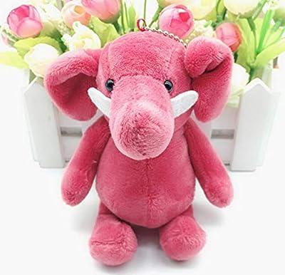 WYBL Lindo Elefante Colgante Juguetes De Felpa Kawaii Bolsa Mochila Llavero Relleno Animales De Felpa Muñecas Niños Juguetes para Los Niños Regalos 10 Cm Rosa de WYBL
