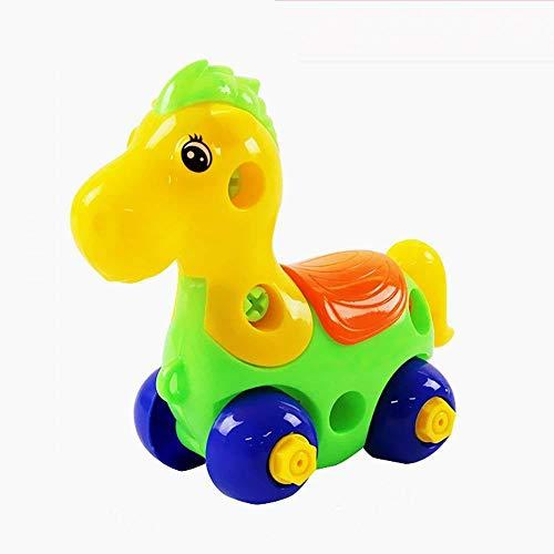 Beito Baby-Spielzeug Push and Go angetriebene Auto-Spielzeug Jungen-Mädchen-Kind-Geschenk-LKW Baufahrzeuge Spielzeug Set für 1-3 Jahre alten Baby Toddlers- Kipplaster, Zementmischer, Bulldozer, Traktor 1pc Pferd
