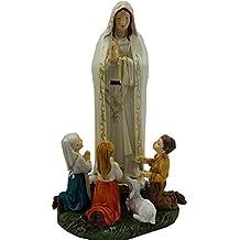 97ad4b0818b DRW DonRegaloWeb - Figura de la Virgen de Fátima de 20 cm con los niños con