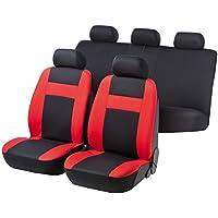 rmg-distribuzione r03it184Asientos COMPATIBLES para Almera fundas coche R03rojos negros para asientos con airbag braciolo y asientos sdoppiabili