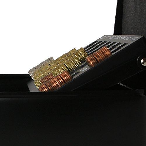 HMF 10015-02 Geldkassette mit Münzzählbrett 30 x 24 x 9 cm , schwarz - 6