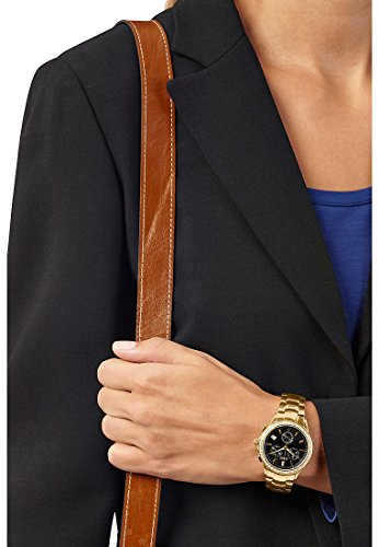 CHRIST times Damen-Armbanduhr Analog Quarz One Size, schwarz, gold -