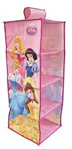 Fun House 004412 Princesas Disney - Colgador de Tela con 4 Compartimentos
