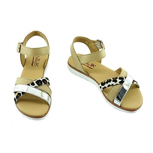 Soldes - Tulash - Sandales Or Confortable Nu-pied - Bella B C-Or