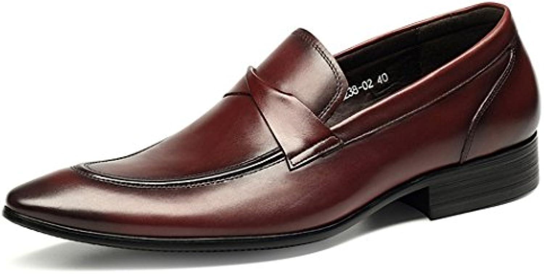 DANDANJIE Scarpe Scarpe Scarpe da uomo Scarpe da lavoro in pelle 2018 Nuove scarpe da sposa stile britannico a punta (Coloreee...   Funzione speciale  c6351d