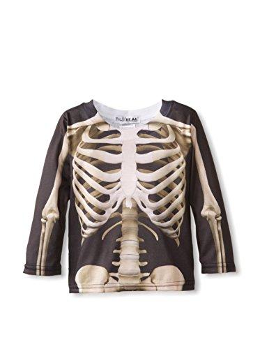 Imagen de poco faux bienes niños disfraz esqueleto tees 4 5 años