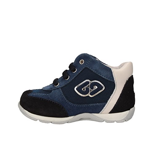 BALDUCCI sneakers bambino blu / grigio bianco camoscio tessuto pelle (17 EU, Blu)
