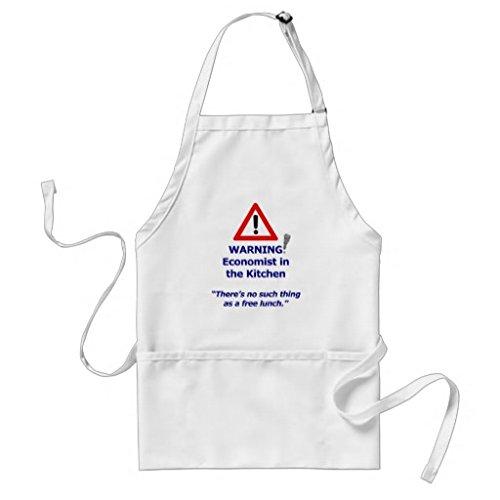 Tablier de cuisine pour femme Économiste tabliers de Motif d'avertissement pour filles cou réglable Attaches de tour de taille Tablier de cuisine pour homme