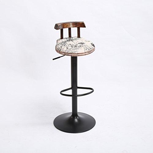 Retro-stil-barhocker (Yuanyuanliu Retro Barstuhl kann angehoben und abgesenkt Werden Sackleinen Kissen Bar kreative Hochstuhl Europäischen Holzstuhl)