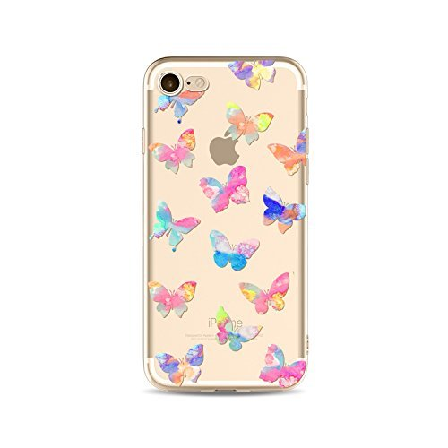Schutzhülle für iPhone 55S Schutzhülle étui-case transparent Liquid Crystal TPU Silikon klar, Schutz Ultra Slim Premium, Schutzhülle Prime für Iphone 55s-le Schmetterling 17