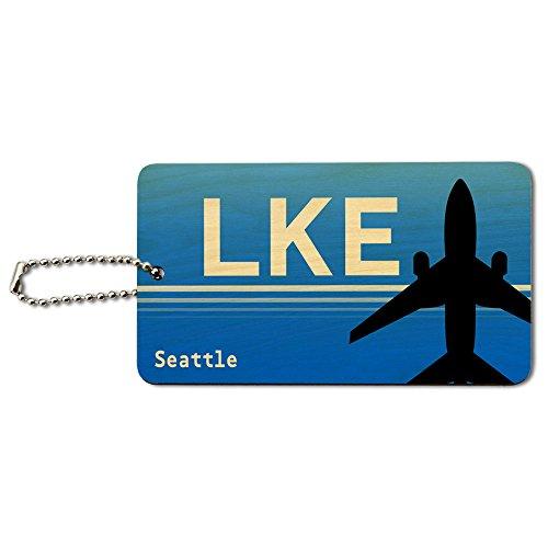 Seattle Wa–Lake Union SPB (Region) Flughafen Code Holz ID-Tag Gepäck-Koffer