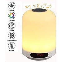 MILUON LED Bluetooth Lautsprecher Lampe,2018 Tragbare LED-Tischlampe Dimmbar Farbwechsel Nachtlampe Mit Freisprechfunktion... preisvergleich bei billige-tabletten.eu