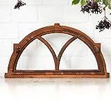 Antikas - Halbrundes Eisenfenster, Stallfenster klappbar, wie Antik-Fenster