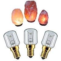 Keraiz Himalayan - Bombillas de recambio para lámpara de sal, color plateado, pack de 3