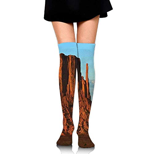 Woman's Panorama of Popular American Canyon by Process of Long Erosion and Wind Theme Simplicity High Boot Socks