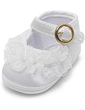 [Gesponsert]Delebao Babyschuhe Taufschuhe Krabbelschuhe Weiche Sohle Schnüren Weiße Schuhe Baby Taufe Kleinkind Solekleinkind...