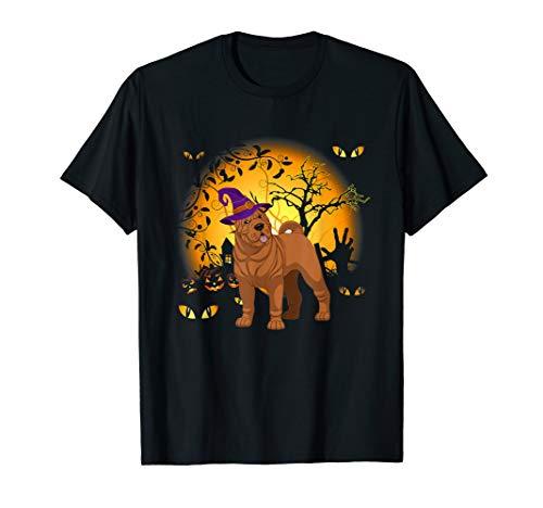 Lustiges Shar-Pei Halloween Kostüm Tee - Hausgemachte Skelett Kostüm