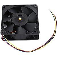 Ventola della CPU, ventola del computer minatore 7500 Rpm Dc12V 5.0A con installazione facilitata, dispositivo di raffreddamento a batteria a 4 pin senza connettore per Antminer Bitmain S7 S9, ventola di raffreddamento ad alta velocità per ventilatore di raffreddamento