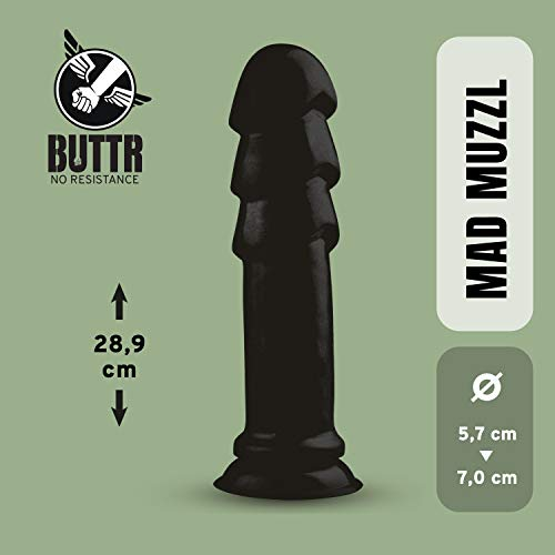 BUTTR Dildo XXL Analplug Sexspielzeug mit runde Spitze, großen Rippen und glatten Schaft, Realistischer Dong, 29 cm