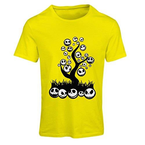 Frauen T-Shirt Scary! (XX-Large Gelb (Scary Bunny Kostüm)