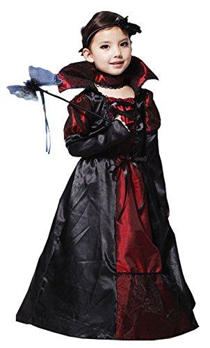 Sweet Kostüm Halloween Kinder Mädchen Vampir Dame Comtesse Gotik Cosplay Kostüm (4-6 (Girl Kinder Ninja Kostüm)