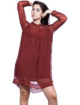 [Sponsorizzato]Abbino Violetta Vestiti Donne Ragazze - Made in Italy - 5 Colori - Transizione Primavera Estate Autunno Uni Signore...