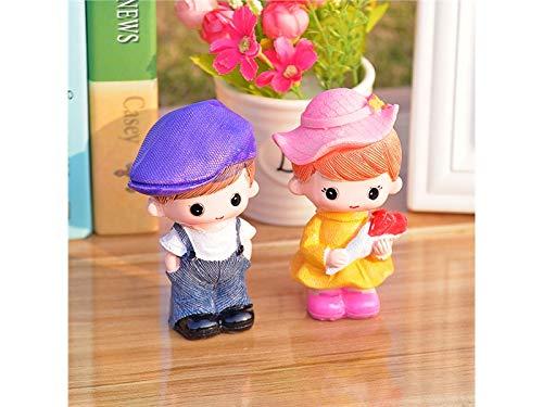 (TjcmSs 1 Satz Micro Landschaft Ornament Miniatur Paar Fairy Garden Puppenhaus Dekorationen (bunt) DIY Gartenverzierungen (Farbe : As Shown))