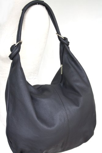 fashion-formel, Sacchetto a canestro / Satchel donna grigio scuro