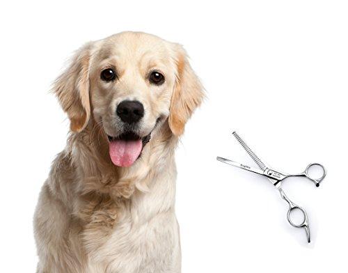 Effilierschere für Hunde Katzen Haustier Einseitig gezahnte Effilierschere aus Metall Fellschere Hundeschere von der Marke PRECORN - 2