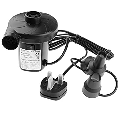 Moobom Electric Air Pump High Volume Inflatables 240v Plug Adaptors For Inflator Camping Airbeds With Universal Valves Inflates And Deflates produced by Moobom - quick delivery from UK.