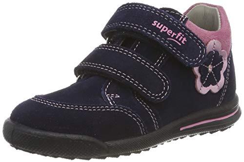 Superfit Baby Mädchen Avrile Mini Sneaker, (Blau 80), 23 EU