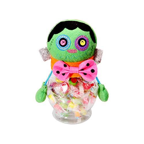 Bilder Kostüm Frankenstein - Newin Star Schöne Dekorationen Halloween Candy Jar Geschenke Süßes oder Saures Spielzeug Puppe Süßigkeiten Aufbewahrungsbox Dekoration, Frankenstein