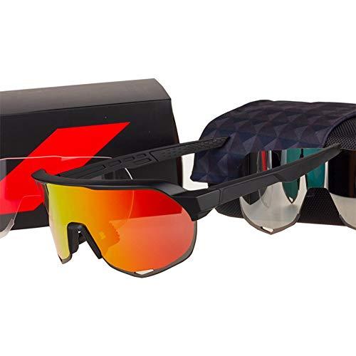 FUXIAOCHEN 3 Objektiv S2 Radfahren Brillen Brillen Sport Sonnenbrillen Fahrrad Brillen Fahrrad Sportbrillen, A