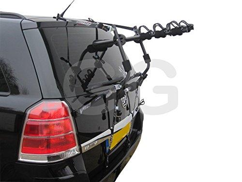 Soporte de coche para 3bicicletas, montado en la puerta trasera, portaequipajes, para Opel Zafira (modelos 1998-2016)